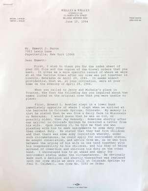 Crew letter (burns) #1