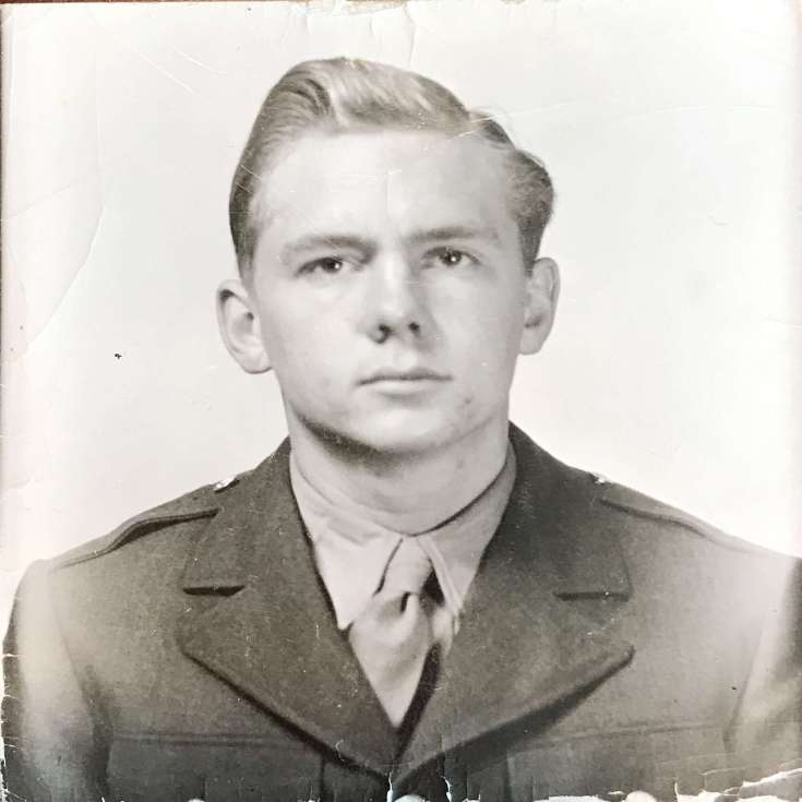 Wally, 1/11/1943, Lubbock, Texas; likely taken during Basic Flight Training when Wally was an Aviation Cadet flying BT-13s.