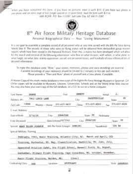 Burns Documents (8th AF History) #10