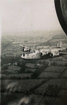 This photo shows B-24 #42-50427, which Wally and his crew flew on 8/27/44 for their second mission to Basdorf. Unknown who took this photo.