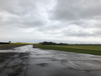 Shipdham Runway on Rainy Day